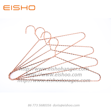 EISHO Rose Gold Metal Coat Clothes Hanger