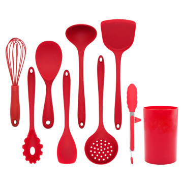 9pcs Silicone Kitchen Utensil with stand
