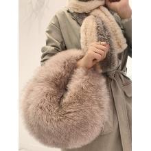 Top Grade Real Fox Fur Shoulder Bags New Winter Handbag Korean winter Fashion Ladies messenger Bag Crossbody Flap Bags