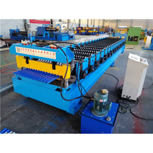 Corrugated steel Metal Roofing Roll Forming Machine