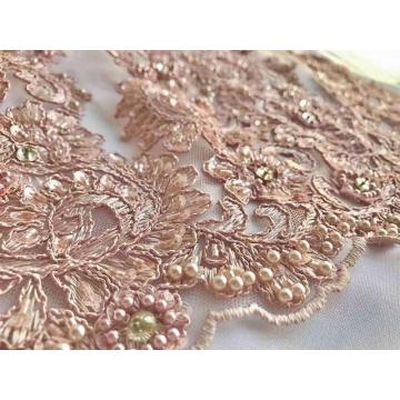 high-grade embroidery diamond sequin pearl fabric