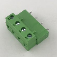 pluggable straight pin male and female terminal block