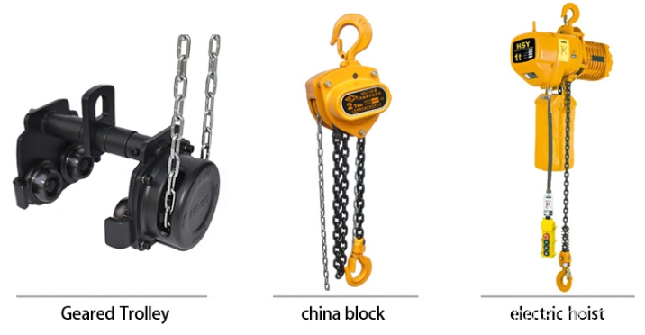Manual Chain Hoist Trolley for Moving Tools