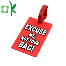 Bulk Embossed Cartoon Custom Luggage Tag with Strap
