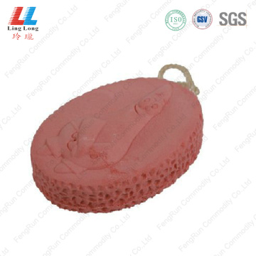Pretty oval fizzy bath sponge
