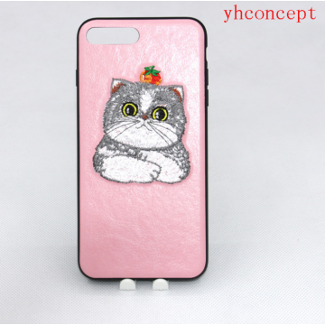 Embroidery patch Flower TPU Unbreak Cell Phone Cases