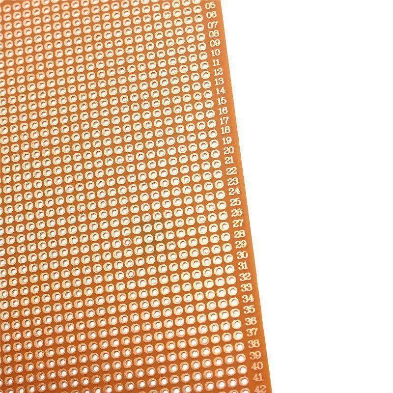 New Electric Unit 1pcs 10cm x 22cm Single Side Copper Prototyping Paper PCB Printed Circuit Board Prototype Breadboard #MK-6
