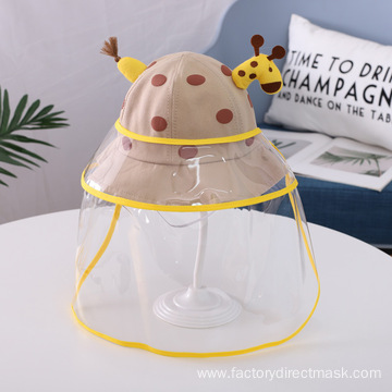 Brown Giraffe Anti-droplet Hat for Children