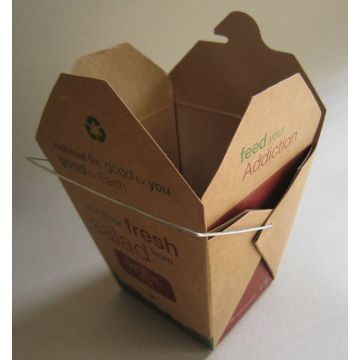 16oz Small Takeaway Noodle Boxes 260gsm white cardboard