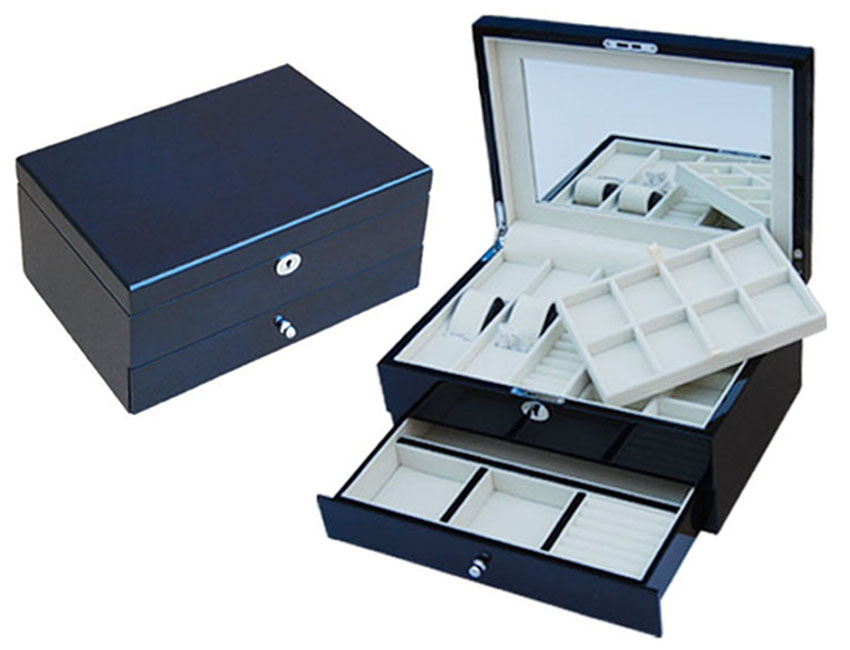 Jtr 30 Ebony Two Layers Jewelry Box