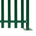 2.1m section Galvanized and metal security palisade fencing