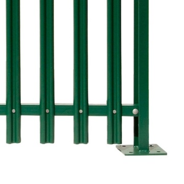 W type Wholesale Colorful Security palisade fencing
