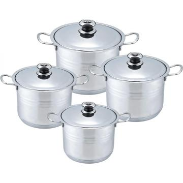 8pcs wide edge nickel stock pot