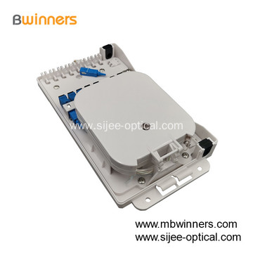 FTTH Wall Mount 8 core Fiber Optic Termination Box 1x8 plc Spliter Box Distribute Box Terminal box