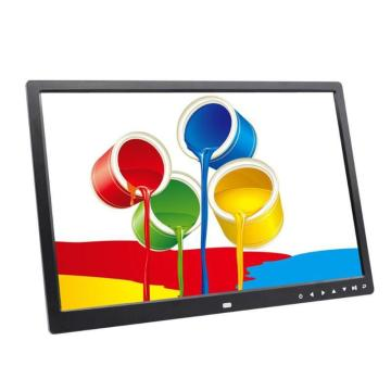 17 Inch 1440X900 HD Digital Photo Frame Electronic Album Touch Buttons Video Player with Clock Calendar Support TF Cards r30