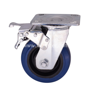 5 Inch trolley caster wheel with Dual Locking
