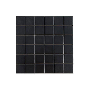 Black ceramic mosaic pool tiles for sale