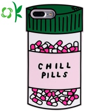 Fashion Pill Bottle shape Cartoon Silicone mobile cover