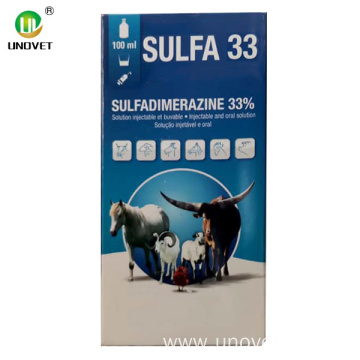 SULFADIMERAZINE 33% injection veterinary