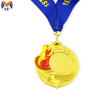 Wholesale metal yellow gold custom medal