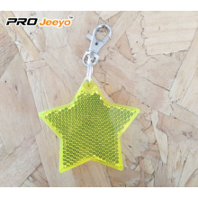 Led Light Reflective Star Hanger Keychain For Child