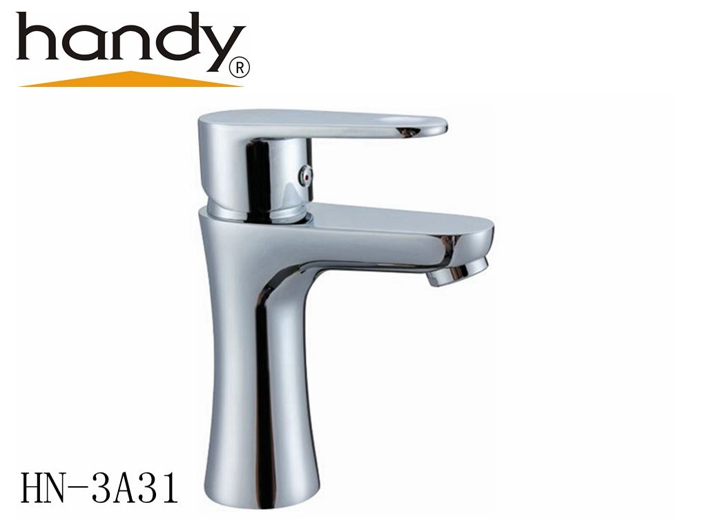 Hot and cold mixed water basin faucet