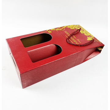 wholesale rigid corrugated double wine glass packaging box