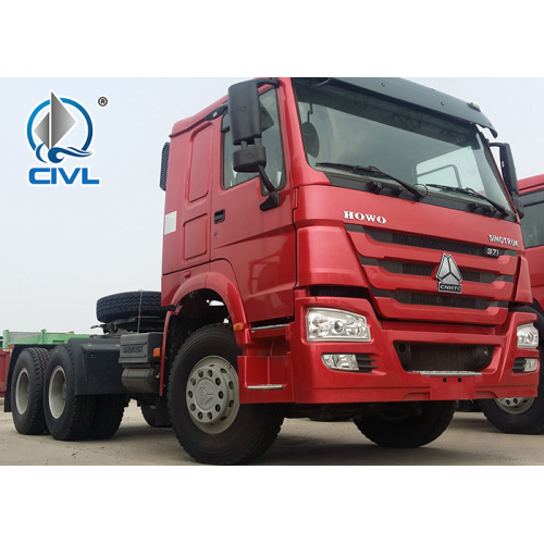 Curb Weight 9180kg 420hp High Roof Sinotruk Howo 6x4