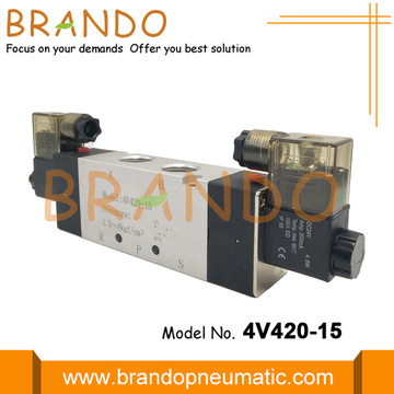 4V420-15 Double Coil Electric Control Air Solenoid Valve