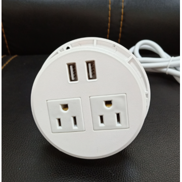 White Round USB Charger for Home