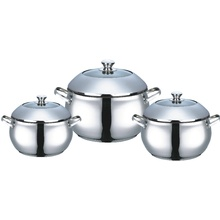 stainless steel casserole with dome lid apple shape