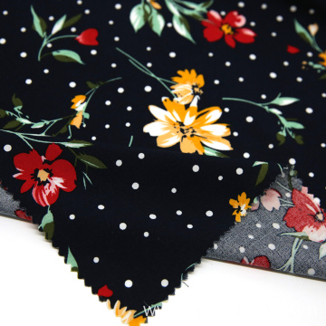 100%spun rayon print fabric for women cloth