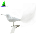 white glass bird animal ornaments for Christmas tree