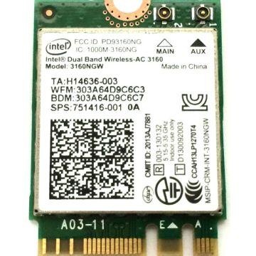 Intel Dual Band 3160NGW Wireless-AC 3160 3160ac ac3160 802.11ac Wi-Fi+Bluetooth for ASUS UX301LA NGFF Wireless network card