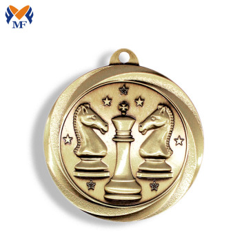 Eye catching gold metal music medal