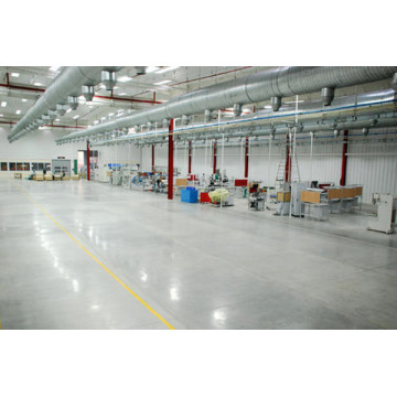 Non-sparking metallic floor hardener