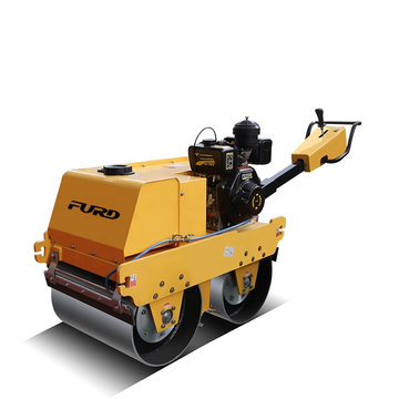 550kg hand push double drum Mini road roller soil compactor roller  FYLJ-S600C