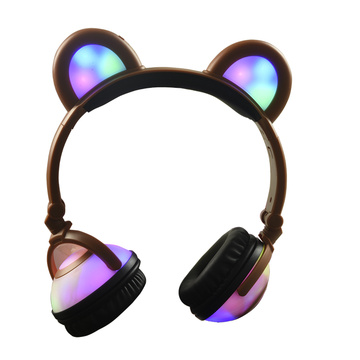 Glowing Earphone Wireless Panda Ear Music Headphones
