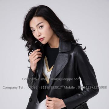 Sheepskin Leather Women Jacket In Winter