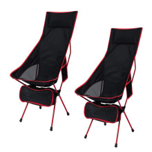 Outdoor Portable Lightweight Folding Camp Chairs with Headrest