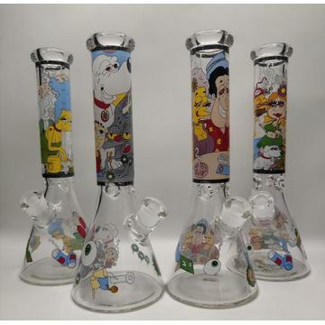 7mm Beaker Bongs with Vortex and Decal