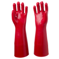Red 45cm pvc coated gloves