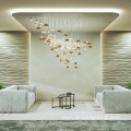 Modern luxury villa crystal glass chandelier lamp