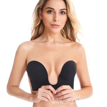 Push up breathable invisible silicone ladies bra
