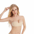 Sexy Strapless Nude Silicone Invisible One Piece Bra