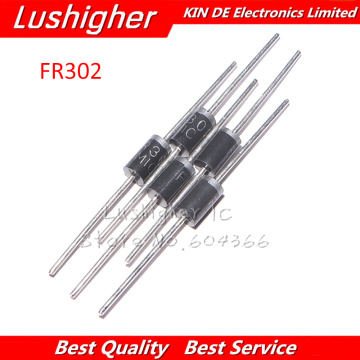 20PCS FR302 DO-27 3A 200V Fast Recovery Rectifier Diode New Original