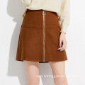 Women Mini Party Skirt with Zipper