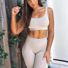 sport bra and yoga pants suit outfit