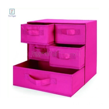 3 Shelf 5 Drawer Underwear Socks Sundries Folding Fabric Drawer Foldable Clothes Storage Box