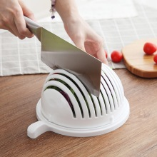 2020 Household Fruit Salad Tools White Creative Multifunctional Fruit And Vegetable Cutting Bowl Kitchen Accessories Small Tools